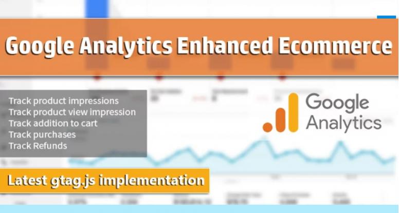 Acompanhamento de comércio eletrónico avançado do Google Analytics